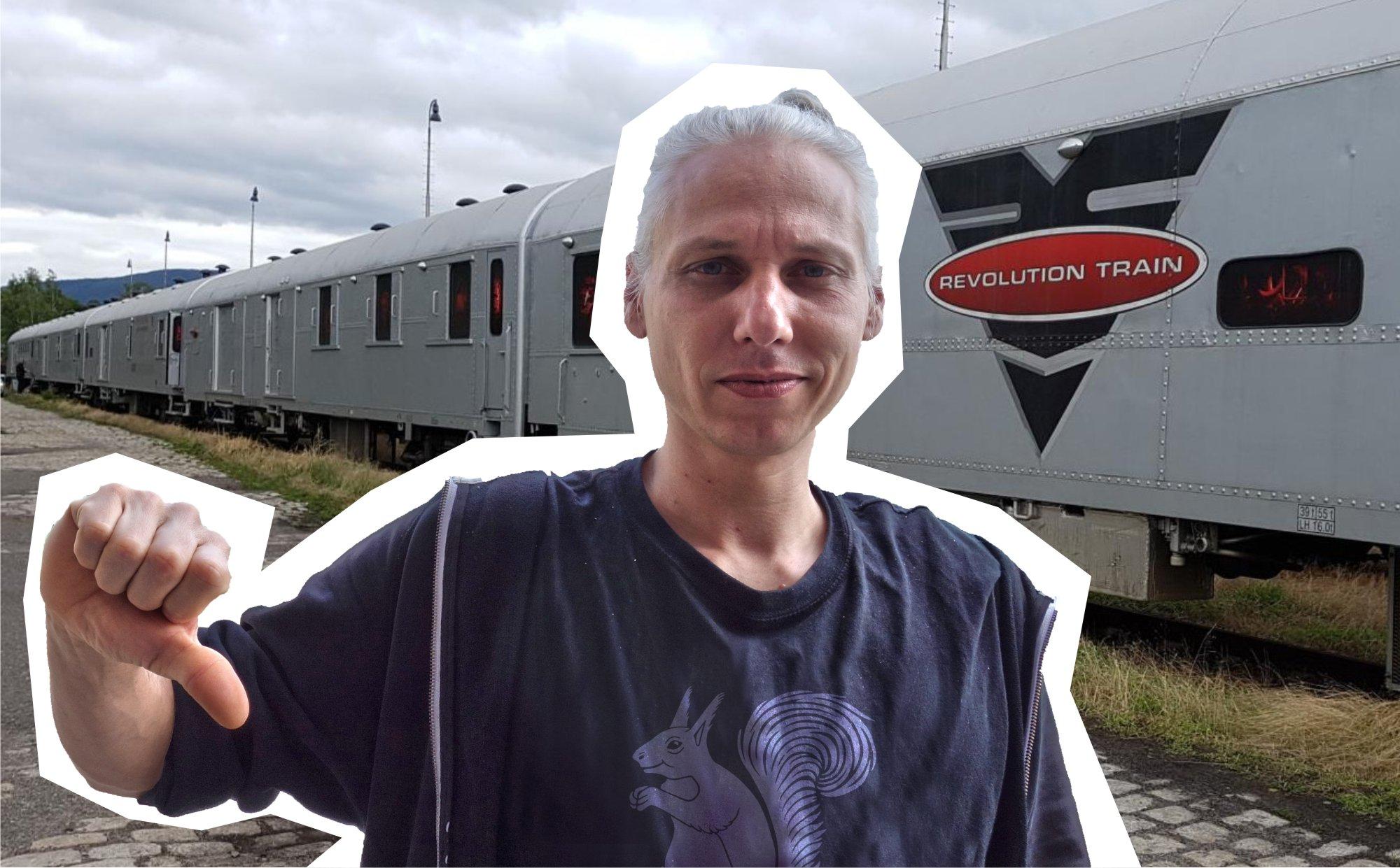 Projekt Revolution train je nekoncepční, necertifikovaný a netransparentní